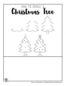 Christmas Tree Drawing Tutorial