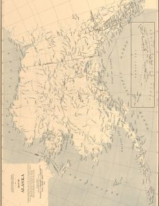 Vintage Map of Alaska Printable