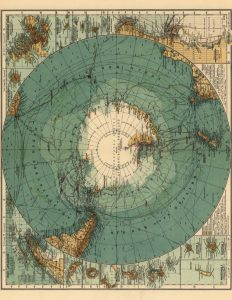 Old Map of Antarctica Printable