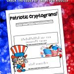 Patriotic Cryptogram Word Puzzles