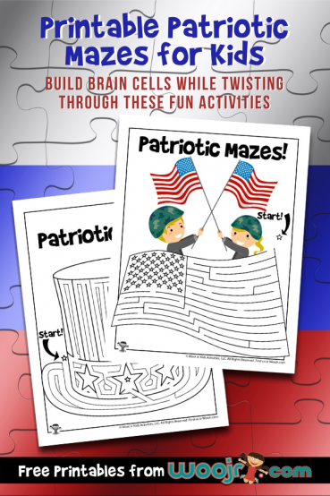 Printable Patriotic Mazes for Kids