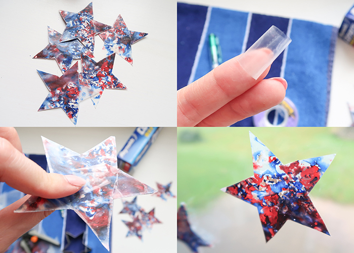 Patriotic Suncatcher Stars