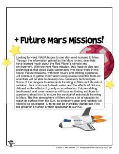 Printable NASA 2020 Mars Lesson for Kids