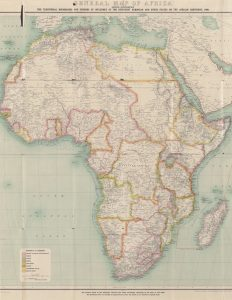 Printable Vintage Map of Africa