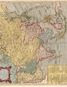 Vintage Map of Asia to Print