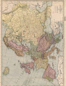 Printable Vintage Map of Europe