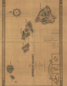 Printable Vintage Map of Hawaii
