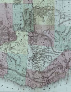 Printable Vintage Map of the US West Coast