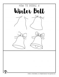 Printable Winter Bell Drawing Lesson