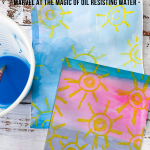 Irresistible Wax Resist Art Project for Kids