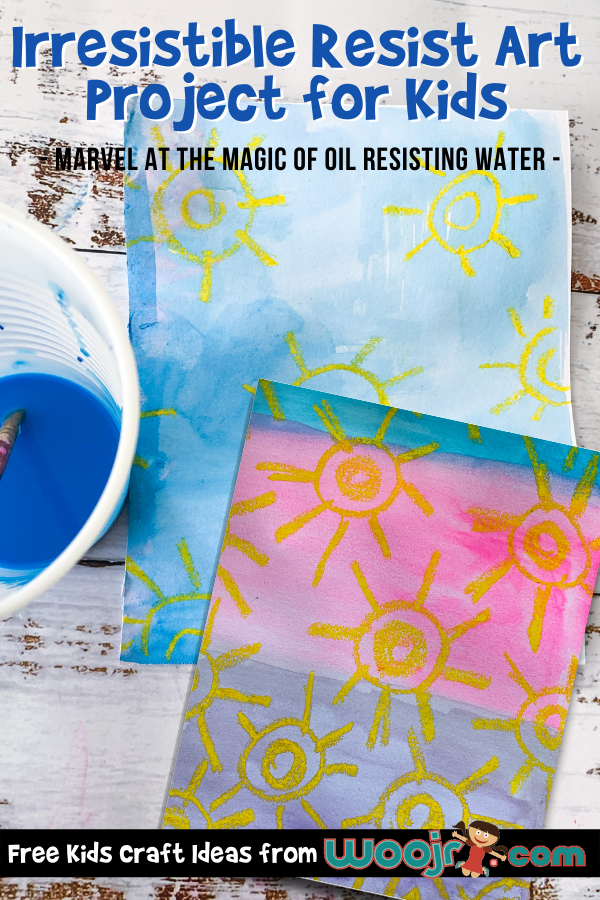 Wax Resist Art Project for Kids