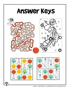 Space Puzzles with Answer Keys