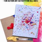 Splatter Painting for Kids Process Art Project
