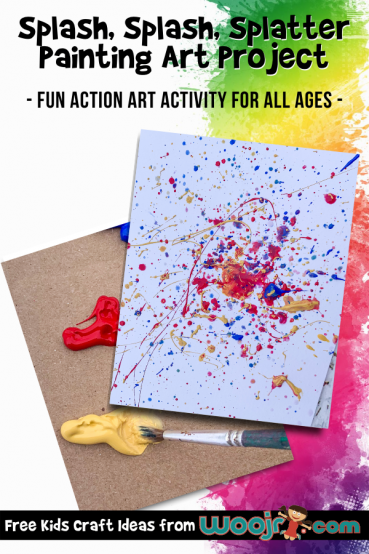 Splatter Painting for Kids Process Art Project