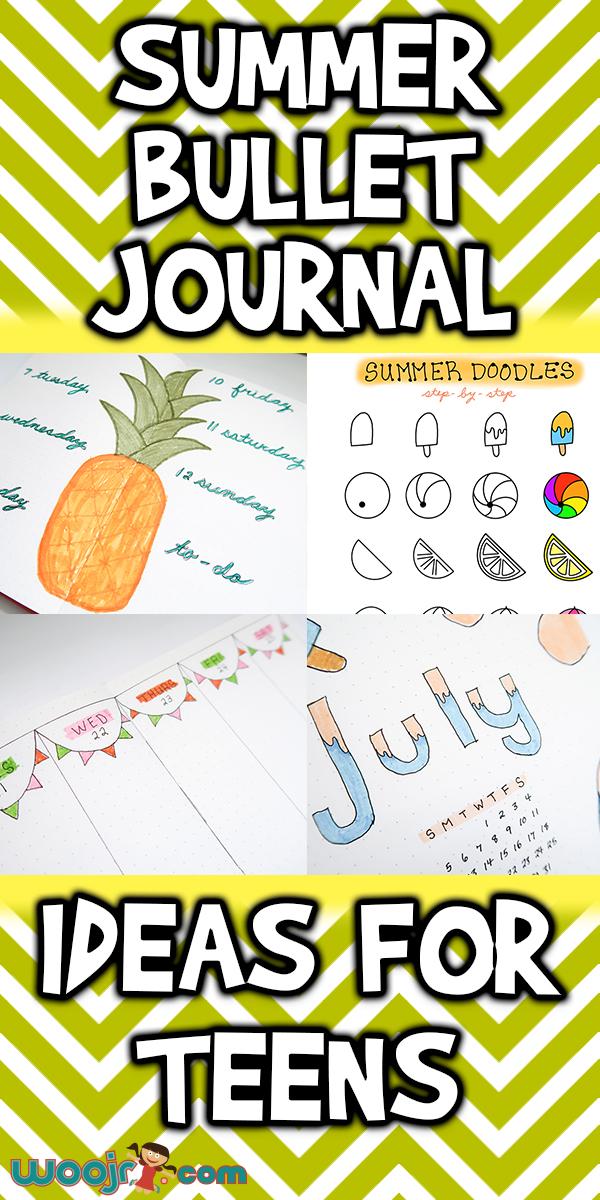 Summer Bullet Journal Ideas For Teens