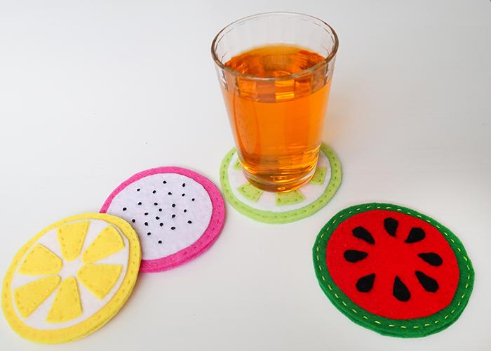 Summer Fruit Felt Coasters