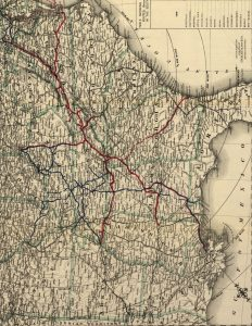 Vintage Map of the South
