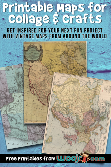 Printable Maps for Collage & Crafts