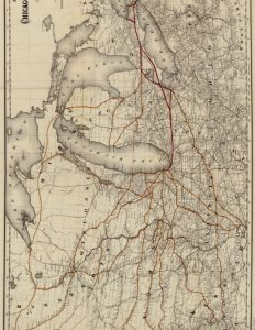 Vintage Railroad Map of the Midwest
