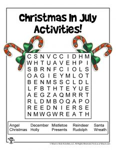Christmas in July Word Search