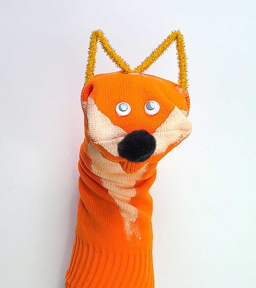 Fox Sock Puppet Craft for Kids