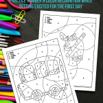 Back to School Color by Number Pages