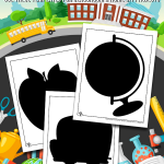 Printable Back to School Shapes & Silhouettes