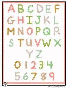 Alphabet Wall Art Bright
