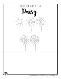 Free Daisy DIY Doodle Printable