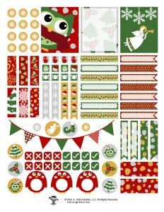 Printable Christmas Journaling Stickers for Kids