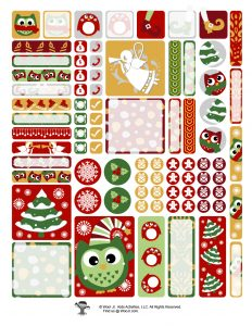 Printable Christmas Tree Sticker Set