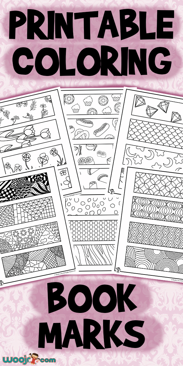 - Printable Coloring Bookmarks Woo! Jr. Kids Activities
