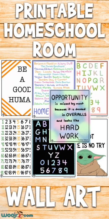 Printable Homeschool Room Wall Art