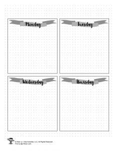 Printable Weekly Calendar for Journaling