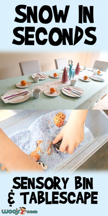 Snow In Seconds | Sensory Bin and Tablescape