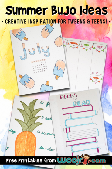 Summer BuJo Ideas For Teens