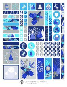 Winter Holiday Sticker Set Printable