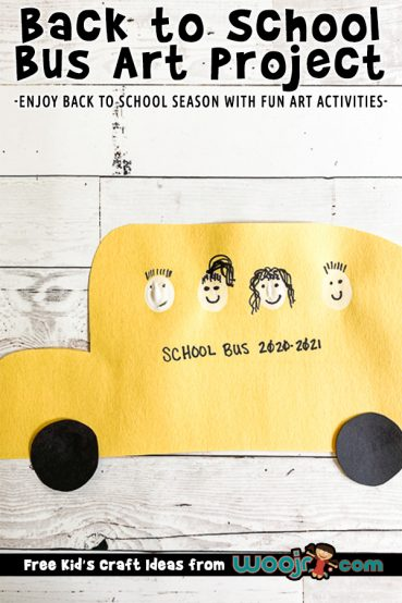 Back to School Bus Art Project