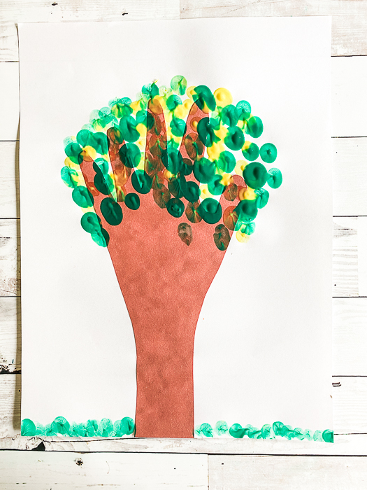 Keepsake handprint tree art project
