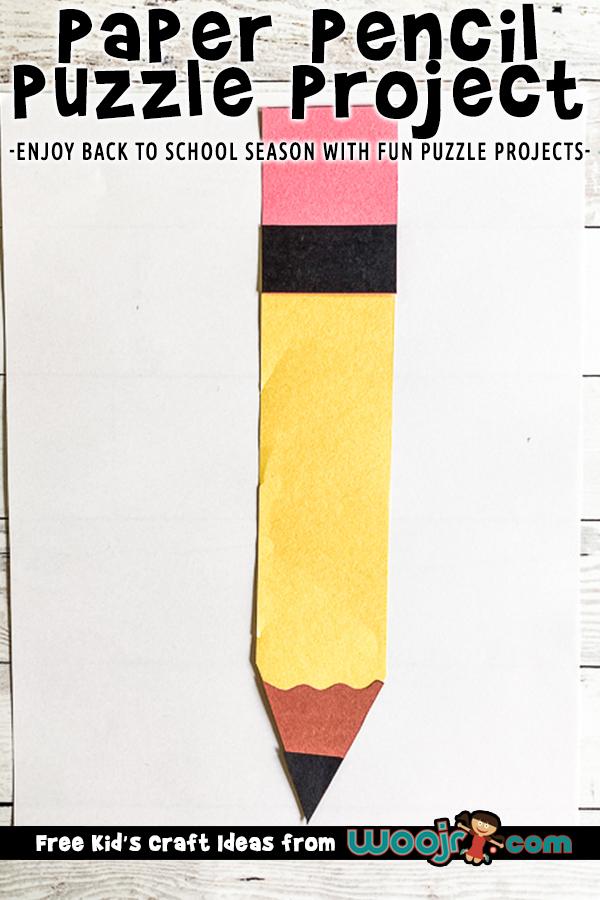 DIY Paper Pencil Puzzle