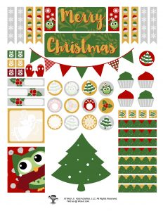 Xmas Sticker Printables DIY