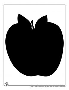 Teacher Apple Shape Back to School Printable