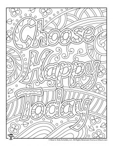 Encouraging Words Adult Coloring Pages
