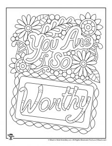 You Are Worthy Coloring Page to Print