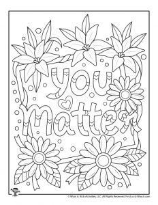 Positive Sayings Adult Coloring Pages Woo Jr Kids Activities