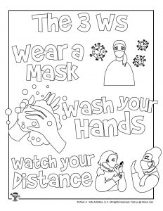3Ws Printable Coloring Page
