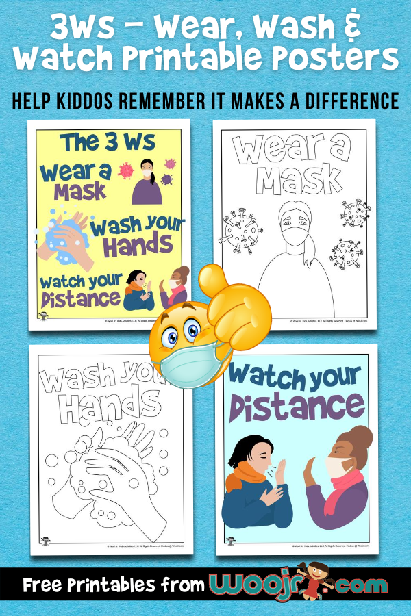 3Ws - Wear Wash & Watch Printable Posters