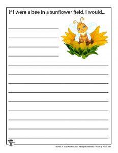 Bee Sunflower Printable Story Starter