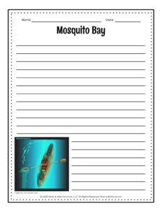 Mosquito Bay Bioluminescent Writing Page