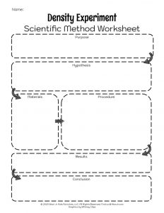 Scientific Method Worksheet for Kids Printable
